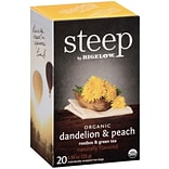 Steep by Bigelow Organic Dandelion Peach Ro...