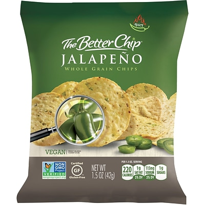 The Better Chip® Jalapeno Whole Grain Chips, 1.5 oz. Bag, 27/Ct
