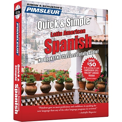 Pimsleur Quick & Simple Latin American Spanish, 4 Disc Set