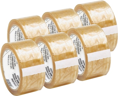 Quill 2 Medium-Duty Natural Rubber Tape; 110 yds, Clear, 2.3 mil