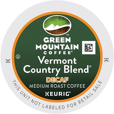 Green Mountain® Vermont Country Blend Decaf Coffee, Keurig® K-Cup® Pods, Medium Roast, Decaffeinated, 24/Box (7602)