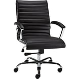 Quill Brand® Bresser Luxura Faux Leather Manager Chair, Black (23096-CC)