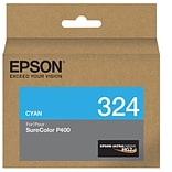 Epson 324 UltraChrome HG2 Cyan Ink Cartridge (T324220)