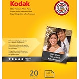 Kodak Ultra Premium Photo Paper High Gloss 4x6 , 20 sheets per pack