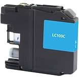 Quill Brand® Remanufactured Ink Cartridge Brother LC103 Cyan High Yield (Lifetime Warranty)