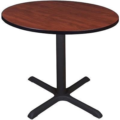 Regency Legacy Round Conference Table With Metal Base Cherry - Regency conference table