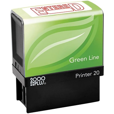 2000 PLUS® Green Line Self-inking Stamp,  ENTERED