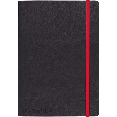 BLACK by Black n Red™ Business Notebook 71 Sheets A5 8-1/4 x 5-3/4 Black (400065000)