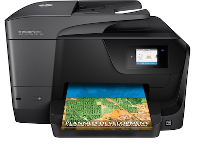 HP® OfficeJet Pro 8710 Color All-in-One Inkjet Printer (M9L66A)