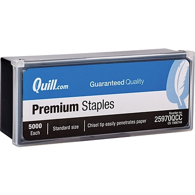 Quill Brand® One-Touch™ Premium Standard Staples, 1/4, 5000/Box (25970-QCC)
