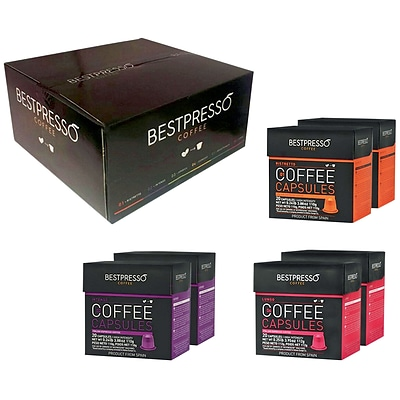 Bestpresso® Compatible Nespresso® Pods, Intense Variety Pack, 120 Capsules/BX