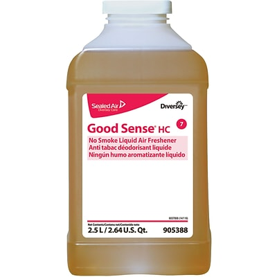 Good Sense® Liquid Odor Eliminator Counteractant Concentrate, J-Fill®, No Smoke, Spice Scent, 2.5 Liters, 2/CT
