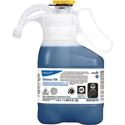 Diversey™ Glance® Glass and Multipurpose Cleaner, SmartDose™, 1.4L, 2 Bottles/Carton