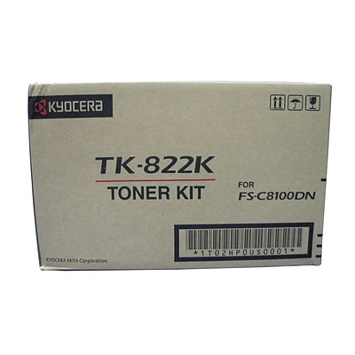 Kyocera KYOTK822K Black Toner Cartridge