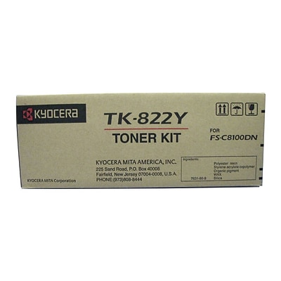 Kyocera KYOTK822Y Yellow Toner Cartridge
