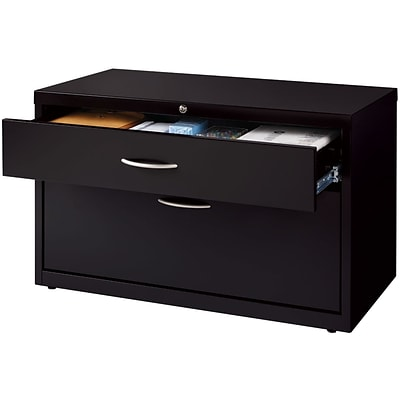 Quill Brand® Low Credenza Lateral File; Box/File, Black, 36W