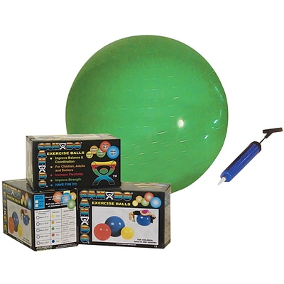 CanDo® Inflatable Exercise Ball Economy Set; 26 (65 cm) Ball