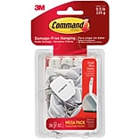Command™ Small Wire Hooks Mega Pack, White,...