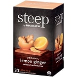 Steep by Bigelow Organic Lemon Ginger Herbal Tea, 20/Bx