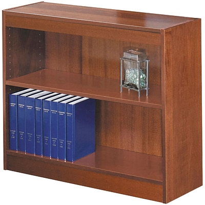 SAFCO® Square-Edge Veneer 2-Shelf Bookcase; Cherry