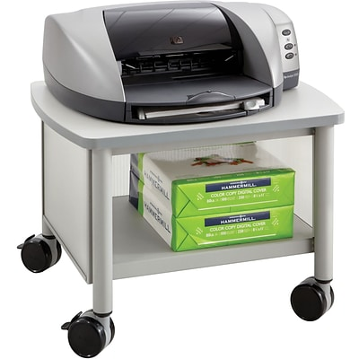 Safco Impromptu® Under Table Printer Stand, Gray (1862GR)
