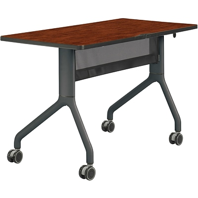 SAFCO® Rumba™ 48 x 24 Rectangle Table; Cherry/Black