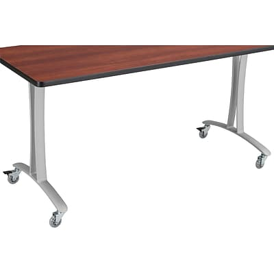 SAFCO® Rumba™ 60 x 24 T-Leg w/Casters; Cherry/Silver