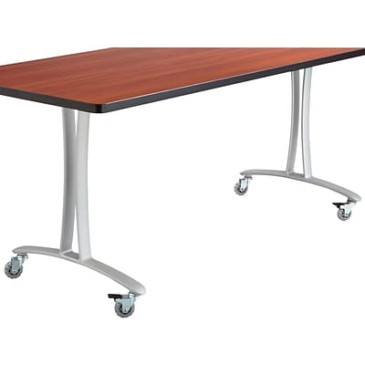 SAFCO® Rumba™ 72 x 24 T-Leg w/Casters; Cherry/Silver