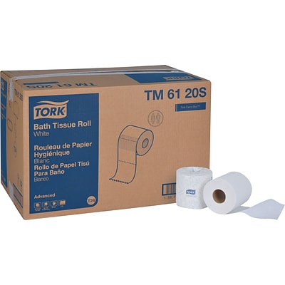 Tork Advanced Bath Tissue Roll, 2-Ply, White (Case of 96 Rolls, 500/Roll, 48,000 Sheets)