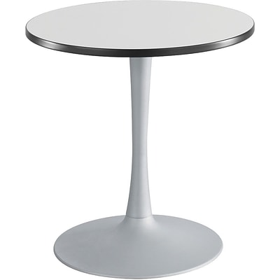 Safco Cha-Cha™ 30 Round, Trumpet Base Sitting Height Table, Silver/Silver (2475GRSL)