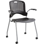 SAFCO® Sassy® Stack Chair; Black, 2/Pack