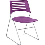 SAFCO® Pique® Stack Chair; Plum/Silver, 4/Pk