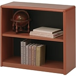 Safco ValueMate® Economy 2-Shelf 28 Bookcase, Cherry (7170CY)