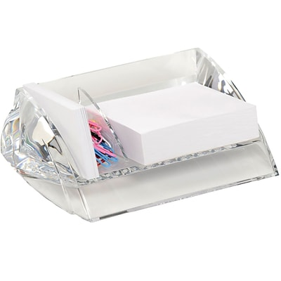 Swingline Acrylic Memo and Paper Clip Holder, Clear, 7H x 5W x 2 1/2D (S7010136)