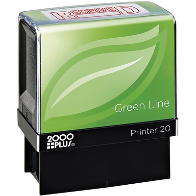 2000 PLUS® Green Line Message Stamps, RECEIVED
