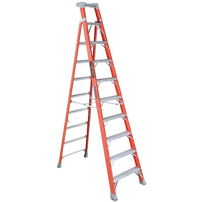 Louisville® Ladders FS1500 Series Fiberglass Step Ladders, 10 ft