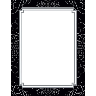Great Papers! Black and Silver Scroll Letterhead, 8.5 x 11, 80 count (2013169)