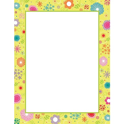Great Papers! Spring Flowers Letterhead, 8.5 x 11, 80 count (2014115)