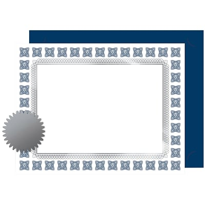 Great Papers! Silver Scholar Premium Certificates, Seals & Covers Kit, 8.5x11,30 count(2015074KIT)