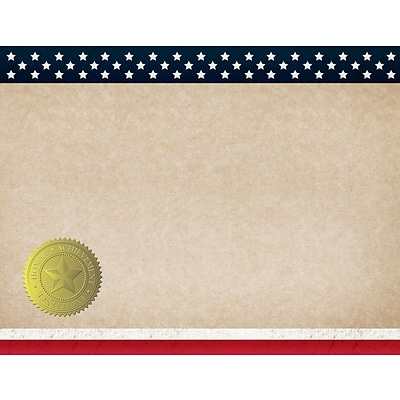 Great Papers! Patriotic Certificate, 8.5 x 11, 25 count (2015083)