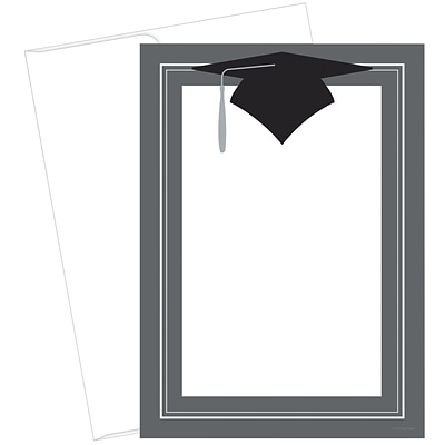 Great Papers! Class Hat Flat Card Invitation, 5.5 x 7.75, 20 count (2015091)