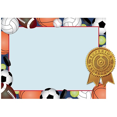 Great Papers! Sports Certificates and Seals Kit, 8.5 x 11, 10 count (2015079KIT)