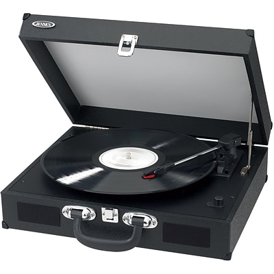 Portable 3 Speed Stereo Turntable with Built In Speakers
