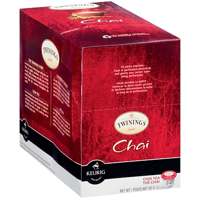 Twinings® Chai Black Tea, Keurig® K-Cup® Pods, 24/Box (09954)