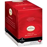 Twinings English Breakfast Tea K-Cup Pods, 24/BX