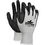 Memphis Glove™ Economy Foam Nitrile Gloves, Large, Gray/Black, 12 Pairs