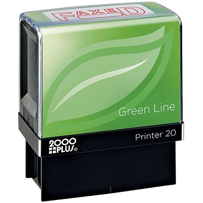 2000 PLUS® Green Line Message Stamps, FAXED