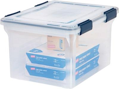 Iris Ultimate Plastic File Box Clear 32 Quart Quillcom