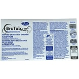 BruTab 1988ppm Transfer Label for 6S Disinfectant Concentrate Tablets, 20/Pack