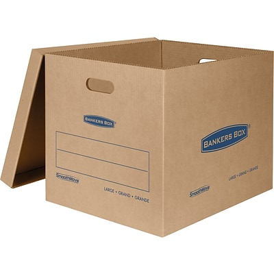Bankers Box® SmoothMove Classic Moving Box, Large, 21L x 17W x 17H, 5/PK (7718201)